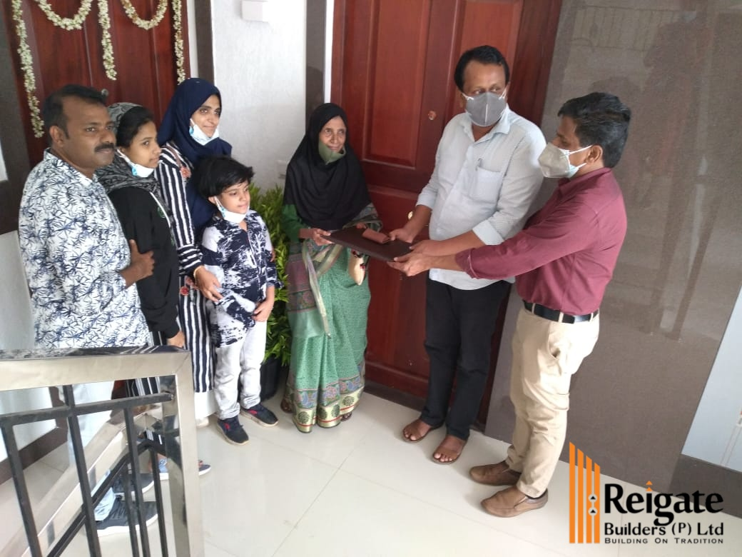 Key handing over of Mr. Firos - Marina apartment project