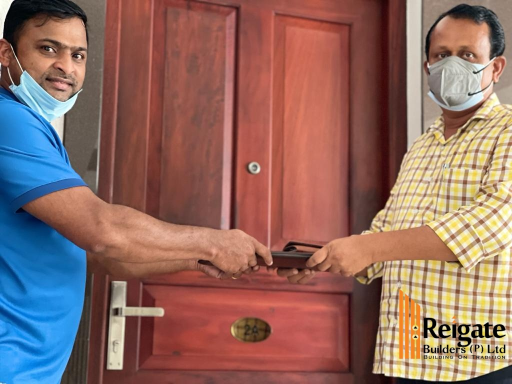 Key handing over of Mr. Sushanth - Marina apartment project