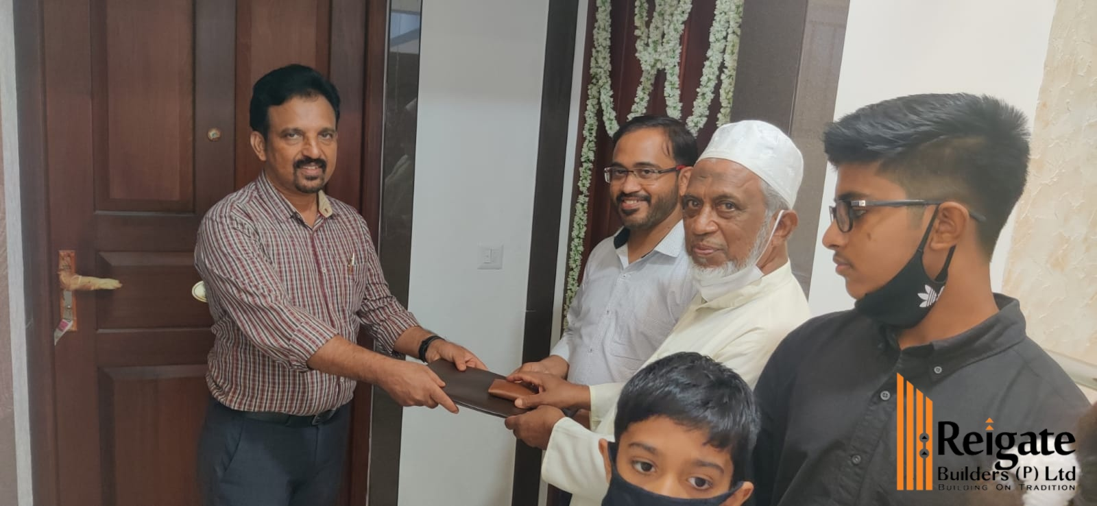 Key handing over of Mr. Dr. Abdul Jaleel - Marina apartment project